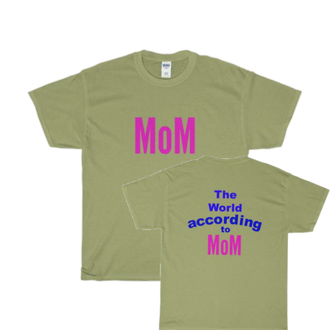 World According to / Mom / Unisex Heavy Cotton Tee - Retro Guy Apparel