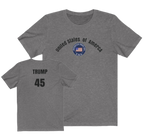 TRUMP/front-back/Unisex Jersey Short Sleeve Tee