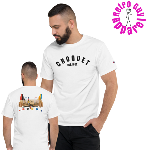 Croquet/front-back/Short-Sleeve T-Shirt
