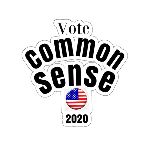 Vote/CommonSense/Kiss-Cut Stickers - Retro Guy Apparel