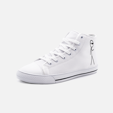 Mr.RetroGuy/Unisex High Top Canvas Shoes