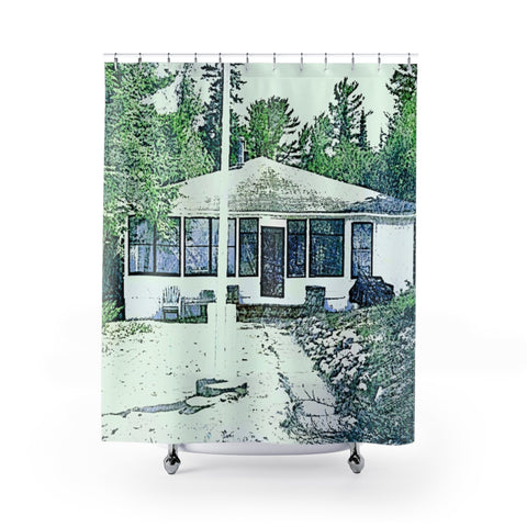 Shower Curtain/ Custom / Retro Guy Apparel