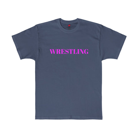 Wrestiling / Sports / Pink / Men's Tagless Tee / Retro Guy Apparel
