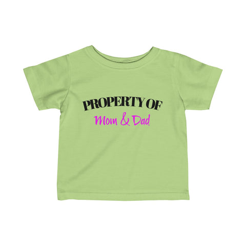 Property of / Mom & Dad / Parody / Infant Fine Jersey Tee - Retro Guy Apparel