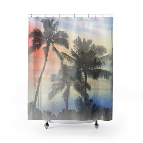 Tropics Shower Curtain - Retro Guy Apparel