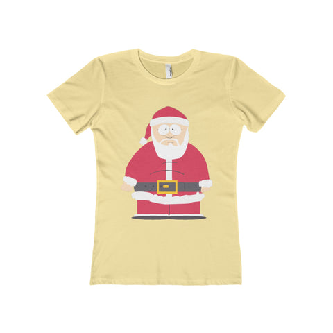 Santa Ladies Tee Shirt - Retro Guy Apparel