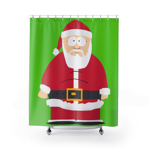 Santa Shower Curtain - Retro Guy Apparel