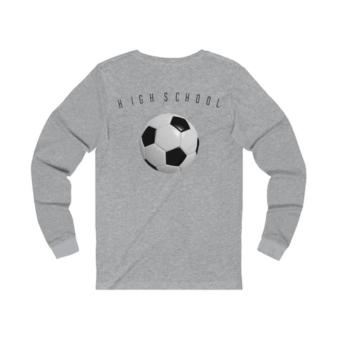 SOCCER/HIGHSCHHOL/Men's Jersey Long Sleeve Tee/MADEUSAdesign - Retro Guy Apparel