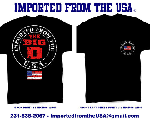 Imported from the USA / Detroit / Short Sleeve Tee Shirt - Retro Guy Apparel