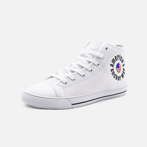RUSH/America's Broacaster/Unisex High Top Canvas Shoes/Parody