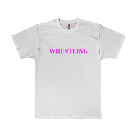 Wrestiling / Sports / Pink / Men's Tagless Tee - Retro Guy Apparel