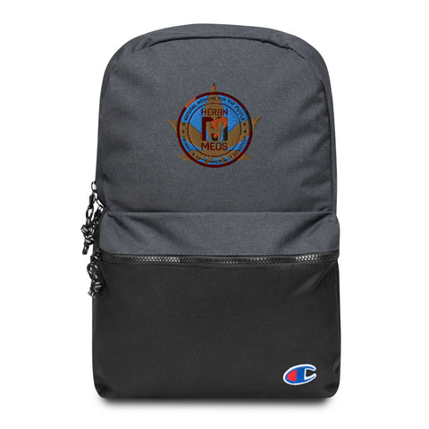 HerbNMeds/Embroidered Champion Backpack