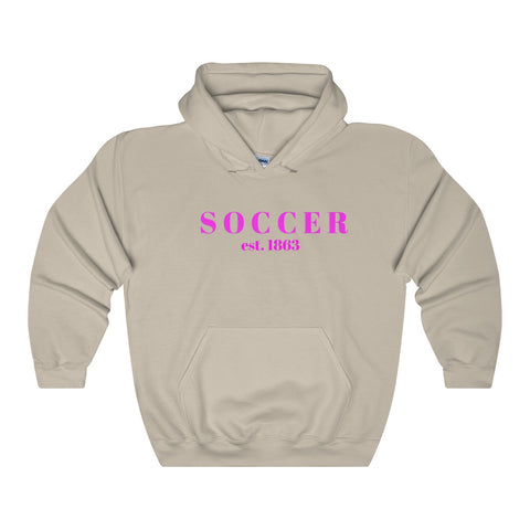 Soccer / Generic Pink / Unisex Heavy Blend Hooded Sweatshirt - Retro Guy Apparel