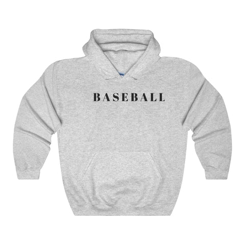 Baseball / Generic / BLK / Unisex Heavy Blend Hooded Sweatshirt - Retro Guy Apparel