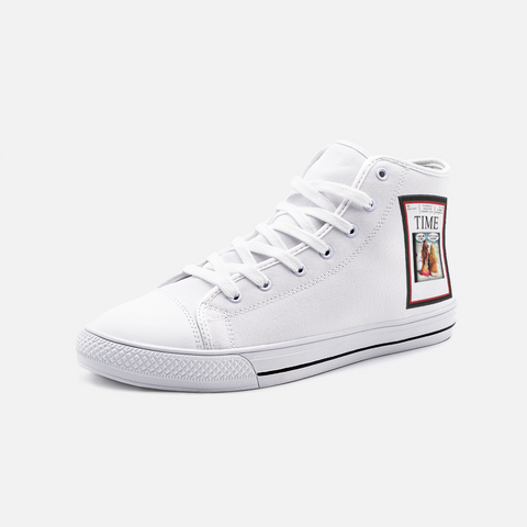 TimeMag./Unisex High Top Canvas Shoes