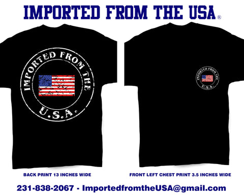 Imported from the USA / Short Sleeve Tee-Shirt - Retro Guy Apparel