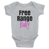 Free Range Baby / Parody / Infant Bodysuit - Retro Guy Apparel