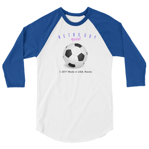 RETROGUY/soccer/3/4 sleeve raglan shirt/MADEUSAdesign - Retro Guy Apparel