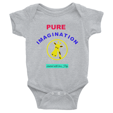 PUREIMAGINATION-Infant Bodysuit/giraffe - Retro Guy Apparel
