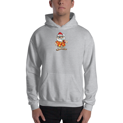 Santa/RetroGuyApparel/Hooded Sweatshirt - Retro Guy Apparel