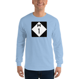 WoodwardAve./Detroit/Long Sleeve T-Shirt - Retro Guy Apparel