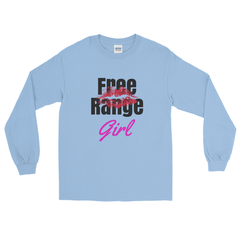 Free Range Girl / Kiss / Parody / Ls Tee / Retro Guy Apparel