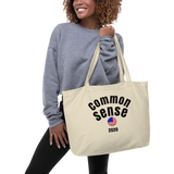 CommonSense/flag/Large organic tote bag - Retro Guy Apparel