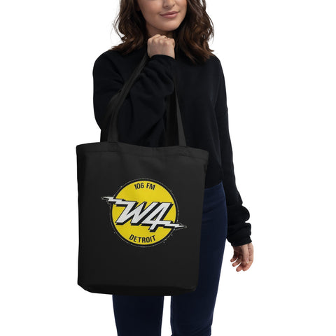 W4/DetroitRadio/Eco Tote Bag