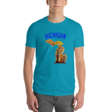 Michigan/map/Short-Sleeve T-Shirt