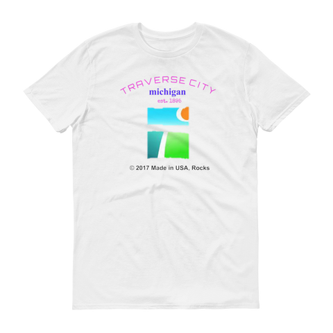 NAMEDROP / Traverse City / Short sleeve t-shirt - Retro Guy Apparel