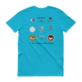 WINERIES/tc.blue/Short sleeve t-shirt/front-backprint - Retro Guy Apparel