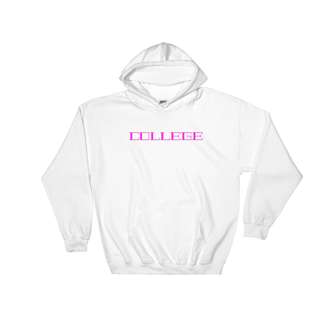 College / Pink / Hooded Sweatshirt - Retro Guy Apparel