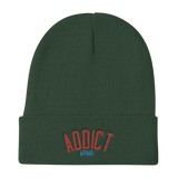 Knit Beanie / Addict Logo - Retro Guy Apparel