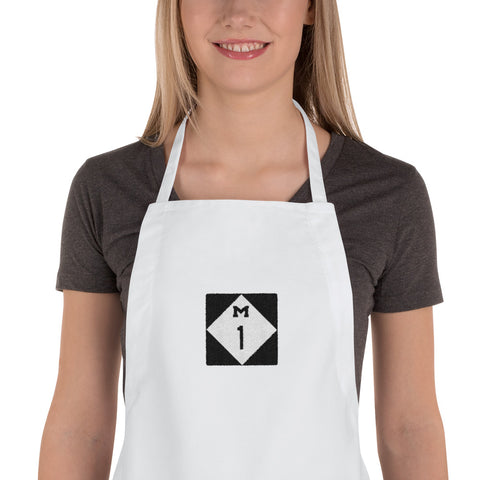 WoodwardAve./Detroit/Embroidered Apron - Retro Guy Apparel