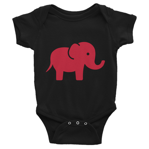 Elephant / Infant Bodysuit - Retro Guy Apparel