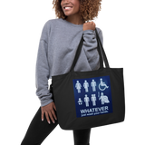 WhatEver/Large organic tote bag - Retro Guy Apparel