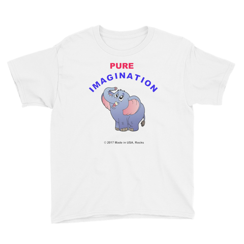 PUREIMAGINATION/elephant/Youth Short Sleeve T-Shirt - Retro Guy Apparel