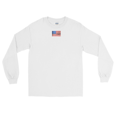 USA Flag / Long Sleeve T-Shirt - Retro Guy Apparel