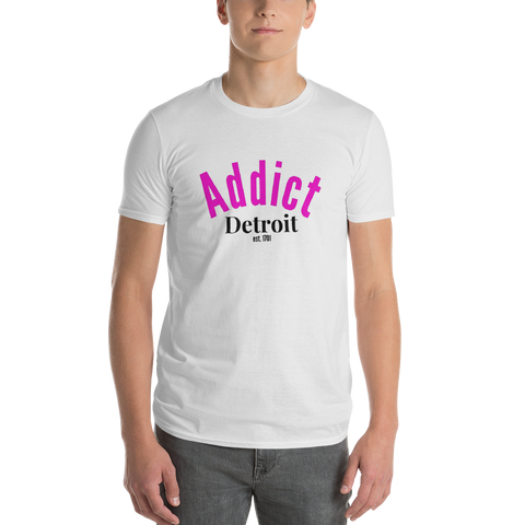 Addict/Detroit/Short-Sleeve T-Shirt - Retro Guy Apparel