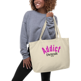 Addict/Detroit/Large organic tote bag