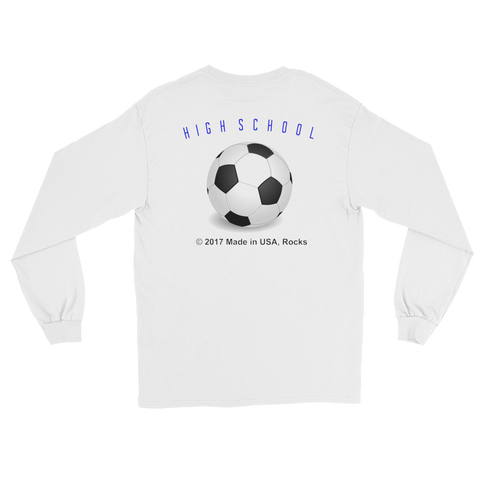 SOCCERHIGHSCHOOL/retroguy/L/S T-Shirt/MADEUSAdesign - Retro Guy Apparel