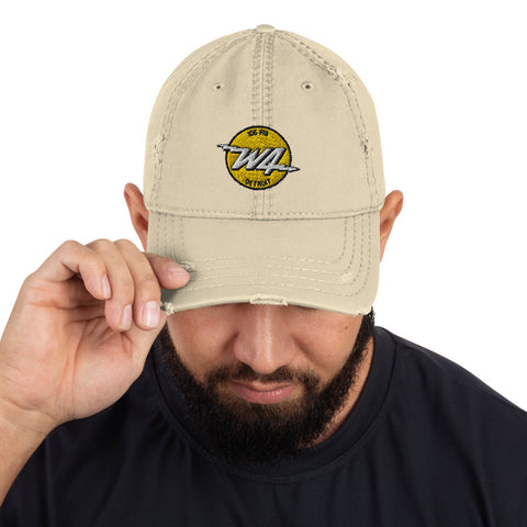 W4/DetroitRadio/Distressed Dad Hat