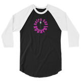 Retro Guy  / Circle Logo  / 3/4 sleeve raglan shirt - Retro Guy Apparel