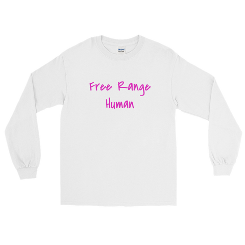 Free Range Human / Parody / Long Sleeve T-Shirt - Retro Guy Apparel