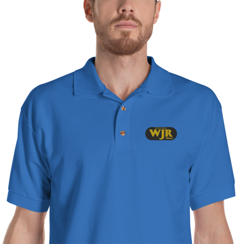 WJR/Detroit/Embroidered Polo Shirt - Retro Guy Apparel
