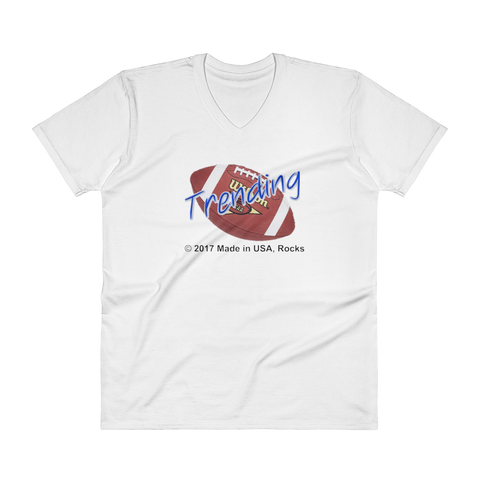 TRENDING/college football/V-Neck T-Shirt - Retro Guy Apparel