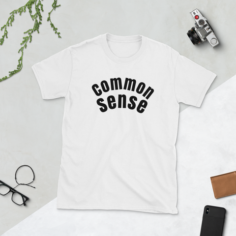 Common Sense -retro guy - Short-Sleeve Unisex T-Shirt - Retro Guy Apparel