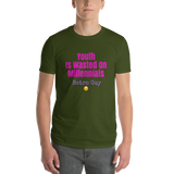 Millennials / Parody / Short-Sleeve T-Shirt - Retro Guy Apparel