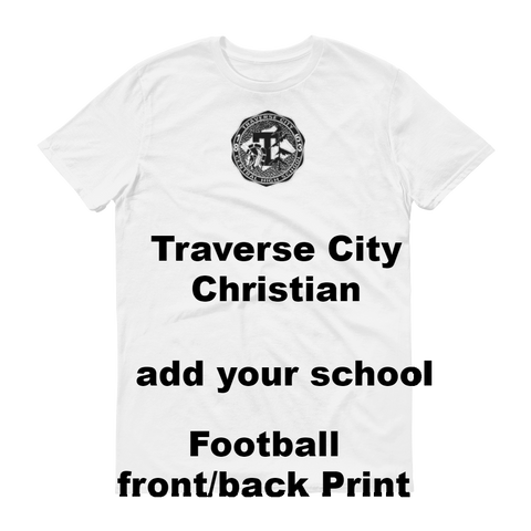 TRAVERSECITY/t.c.Christian/Short sleeve t-shirt/NAMEDROP - Retro Guy Apparel
