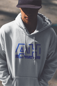 AH Right Thru Here RB Logo Gildan Hoodie DO WORK! Collection by Hager & Barrick